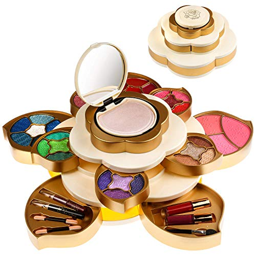 CoralBeau Luxurious Makeup Set for Women - Flower Shaped, Makeup Kit for Teen Girls - Adult Flower Makeup Kit