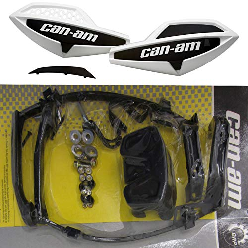 Can-Am ATV WHITE Hand Guard/Wind Deflector Kit w/Mount Outlander,Renegade,DS