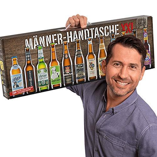 Kalea Männerhandtasche | Geschenkidee | Bier-Spezialitäten | Geschenk-Karton mit Henkel | Geburtstagsgeschenk | Flaschenbiere von Privatbrauereien (12 x 0,33l (XXL))