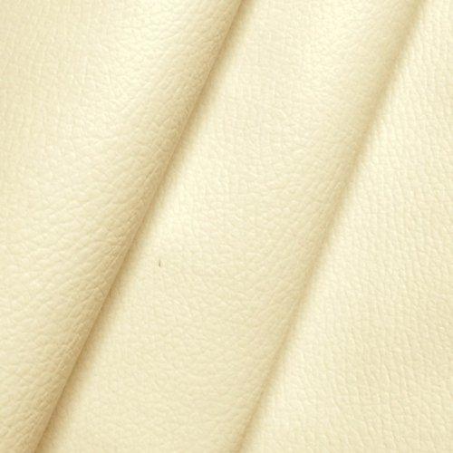 STOFFKONTOR Polster PVC Kunstleder, Polsterstoff in Rindsleder Optik, Möbelstoff Meterware - Creme-Weiss - für sämtliche Polsterarbeiten, Autos, Boote, Dekorationen