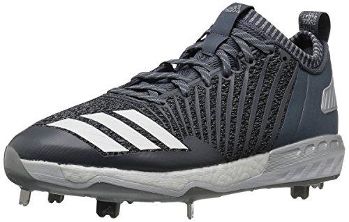 adidas Herren Freak X Carbon Mid Baseballschuh, Onix/Weiß/Metallic Silber, Größe 45