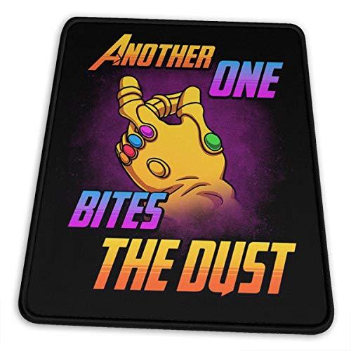 Infinity Bites The Dust Alfombrilla de ratón Non-Slip Gaming Alfombrilla de ratón with Stitched Ed