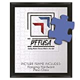 PictureFrameFactoryOutlet | 24 Inch by 33 Inch Picture Frame | Puzzle Frame | Poster Frame | 1.25 Inch Black MDF Frame | Plexi Glass and Hanging Hardware Included