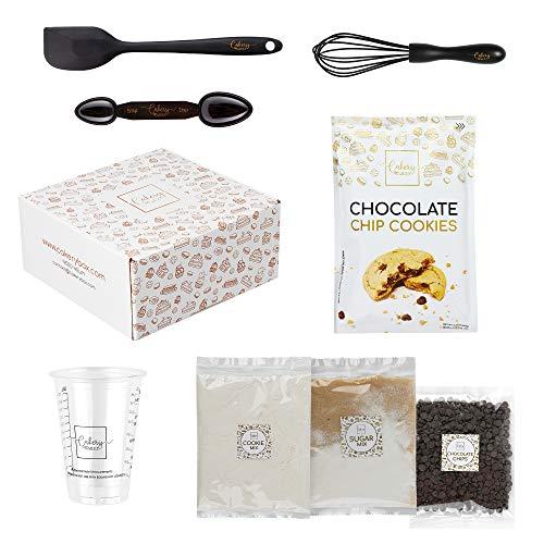 DIY Baking Kit - Chocolate Chip Cookie Mix, Baking Set & Baking Utensils Ideal for Adults, Teens, & Kids Baking