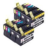 PerfectPrint Compatible Tinta Cartucho Reemplazo Para HP Officejet 6100 6600 6700 7110 7510 7610 7612 932XL 933XL (Negro/Cian/Magenta/Amarillo, 10-Pack)