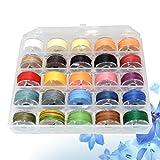 SUPVOX 1 caja de cordón encerado 25 colores de hilos trenzados de hilo encerado para hacer bricolaje de joyería
