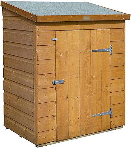 Trastero, suelos de madera y el techo, adecuado para jardines al aire libre, sala de almacenamiento, Pérgolas,Honey Brown
