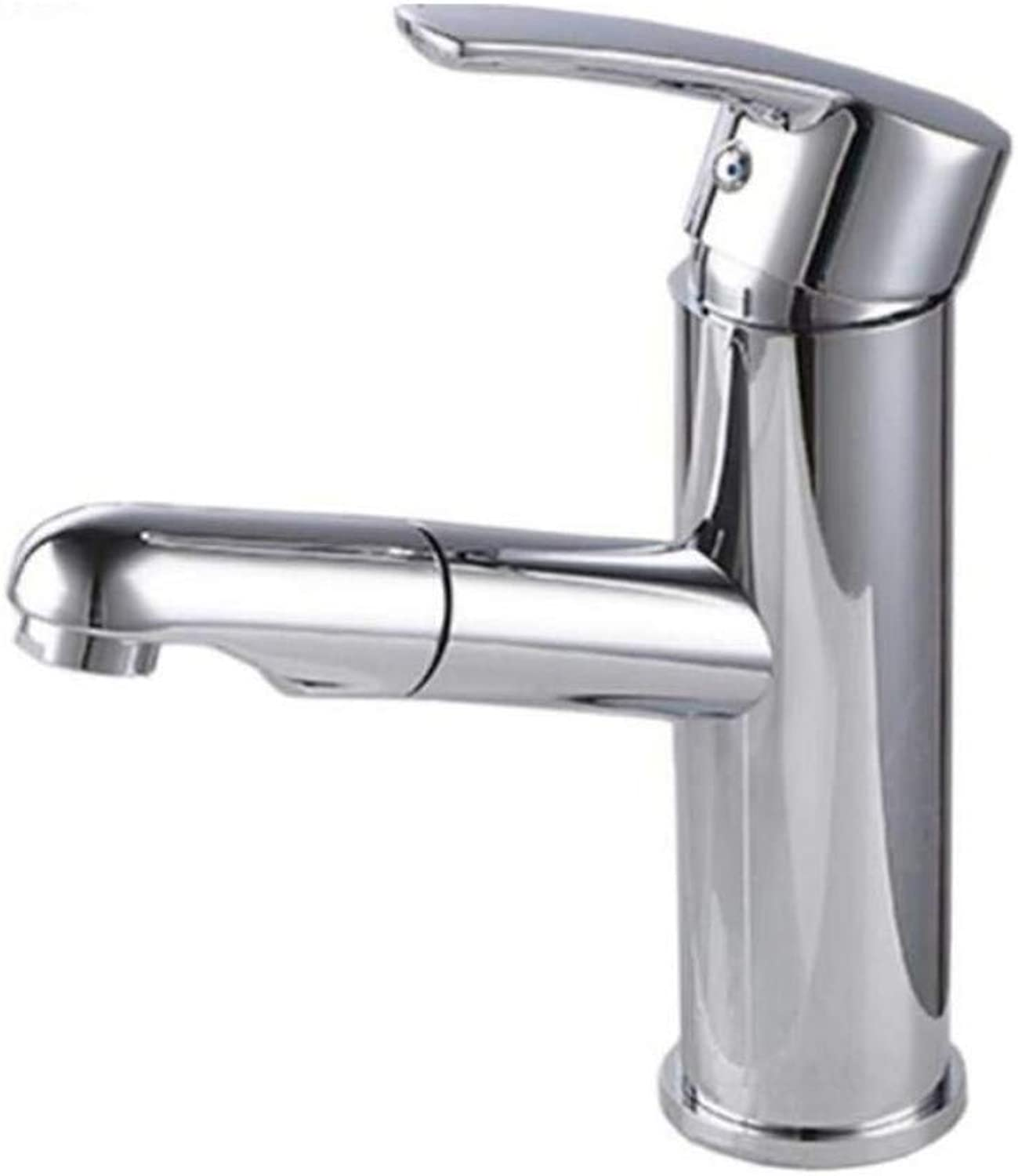 Chrome Kitchen Sink Taptaps Mixer Swivel Faucet Sink Copper Tap Cold and Hot Water Pumping Type Face Basin Tap