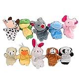 DMZK 10 Pcs t├нteres de Dedo Cuentos, Juguetes Marionetas de Mano Animales para beb├й ni├▒os