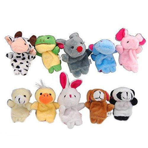 DMZK 10 Pcs títeres de Dedo Cuentos, Juguetes Marionetas de Mano Animales para bebé niños