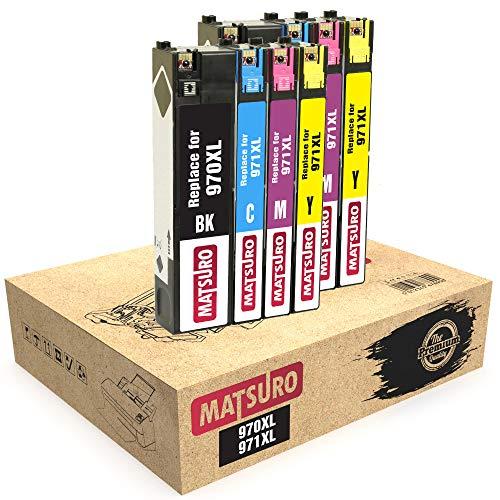 Matsuro Originale   Compatibili Cartucce Sostituire Per HP 970XL 971XL 970 XL 971 XL (2 SETS)