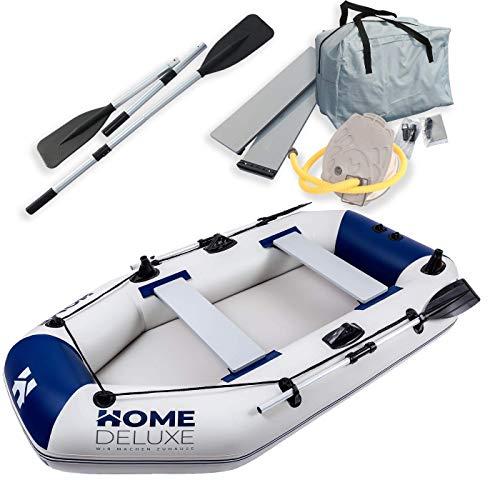 Home Deluxe - Schlauchboot Small - Material: strapazierfähiges PVC- Maße: LxB ca. 230 x 128 cm - für bis zu 3 Personen | Beiboot, Motorboot, Ruderboot