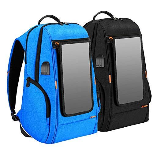 XiaoDong1 Mochila Solar A Prueba De Agua De Emergencia De Gran Capacidad for Carga De Teléfonos Móviles Cargador USB Mochila De Viaje Inteligente (Color : Blue)