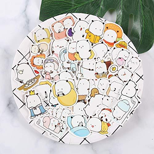 Manual lindo Emoticon Wild Moe Jun Doodle Pegatinas Notebook Equipaje Pegatinas en Casco Pegatinas 38PCS