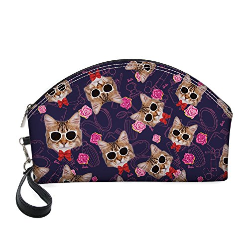 Grand sac de maquillage, motif Cute Dessin animé de chat Cosmétique Pochette Organiseur de voyage par Nopersonality noir cartoon cat6