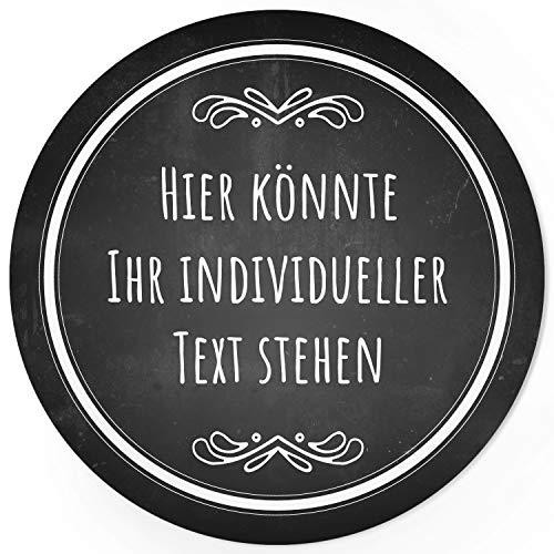 24 PERSONALISIERTE runde Etiketten mit Motiv: Tafel-Look schwarz edel - Ihre Aufkleber online selbst gestaltet, ganz individuell