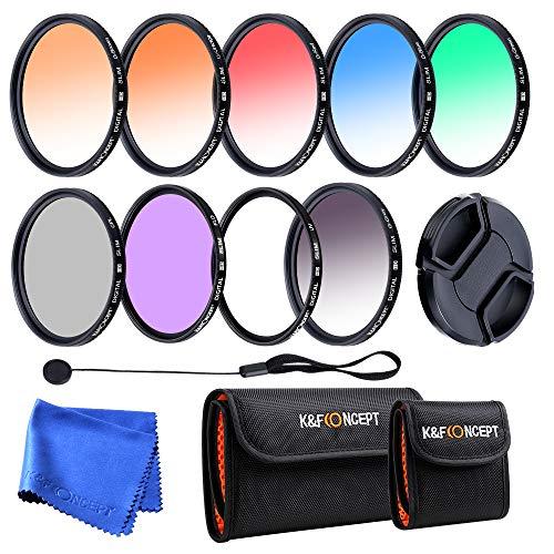 K&F Concept CPL FLD - Juego de filtros UV (37 mm)
