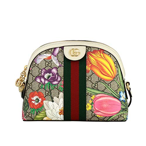 Gucci Ophidia flora Camera handbag Wallet Italy Pink Box Leather White Flower NW