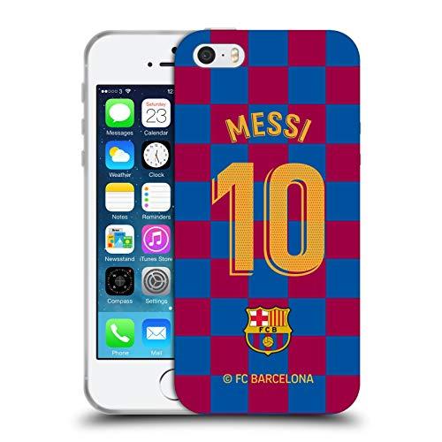 Head Case Designs Oficial FC Barcelona Lionel Messi 2019/20 Jugadores Kit Local Grupo 1 Carcasa de Gel de Silicona Compatible con Apple iPhone 5 / iPhone 5s / iPhone SE 2016