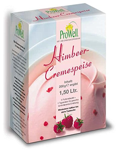 ProWell Diät- und Ernährungsprogramm - Himbeer-Cremespeise - 200 g (5 Portionen)