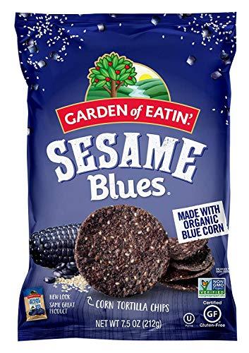 Garden of Eatin' Sesame Blues Corn Tortilla Chips, 7.5 Ounce, Packaging may Vary