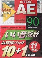 TDK オーディオカセットテープ AE 90分11巻パック [AE-90X11F]
