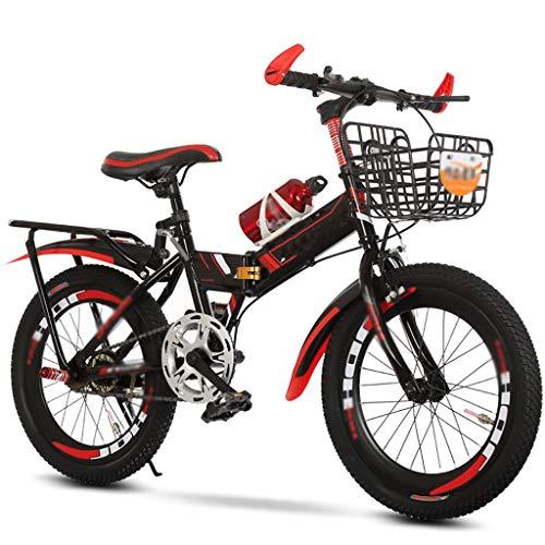 Zxb-shop Bicicleta Plegable Unisex Pedal de 7-15 años Estudiante Plegable montaña de la Bicicleta de la Bicicleta de los niños es Conveniente Poner en el Tronco