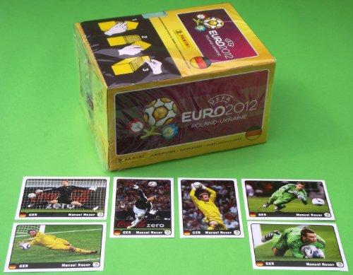 Panini Euro 2012 Deutsche Edition - Display 100 Tüten + Set Neuer Coca Cola