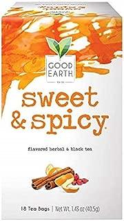 Good Earth Herbal & Black Tea, Sweet & Spicy, 18 Count Tea Bags