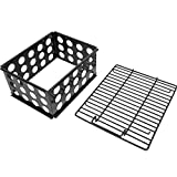 MixRBBQ Charcoal Grate & Charcoal Chamber Set for Dyna-Glo DGO1176BDC-D DGO1890BDC-D Vertical Offset Charcoal Smoker, Porcelain-Enameled Steel Charcoal Briquettes Basket Grill Accessory
