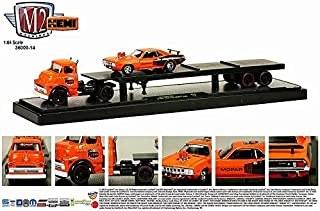 1957 Dodge COE & 1971 Plymouth HEMI Cuda M2 Machines Auto-Haulers (Release 14) 2014 Castline Premium Edition 1:64 Scale Die-Cast Vehicle Set (Limited to 6,000 Pieces World Wide)