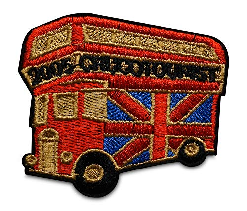 Finally Home London Bus England - Parche termoadhesivo