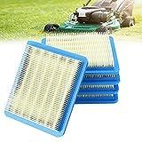 DECARETA 5 filtros de aire para cortacésped Briggs Stratton 11,2 x 13,4 cm, repuesto para cortacésped 491588, 399959, 491588S, Wolf 2058411