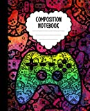 Composition Notebook: Computer Video Game Controller Notebook   Wide-Ruled, 7.5 x 9.25, 110 Pages Journal / Notebook For Kids, Teens, Gamers and Adults