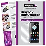 dipos I 2X Schutzfolie klar kompatibel mit ZTE Blade V7 Folie Bildschirmschutzfolie
