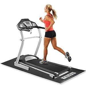 YOGU Exercise Equipment Treadmill Mat Heavy Duty Thin Strong Home Gym Protective Flooring Mat 2.5 x 6 Feet … (Thin)