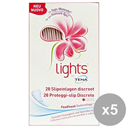 Set 5 TENA LIGHTS protège-slip discret 1 Goutte 28 Pièces couché Soins du corps