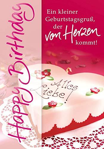 Geburtstagskarte Basic Classic - Herztorte - 11,6 x 16,6 cm