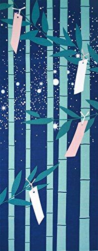 Yamako - Tapiz japonés Tenugui (toalla japonesa), 4 estaciones de 12 meses, serie de patrones – Julio Tanabata Star Festival 87552