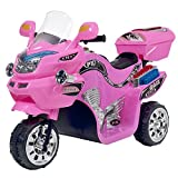 Ride on Toy, 3 Wheel Motorcycle Trike for Kids by Rockin' Rollers – Battery Powered Ride on Toys for Boys and Girls, 2 - 5 Year Old - Pink FX