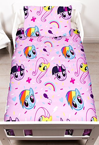 My Little Pony Equestria Parure de lit pour Enfant Motif imprimé répété