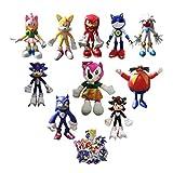 XIANGAN Sonic Plush 9 unids/Set Figura + 1 Plush muñeca de Peluche Juguetes Sonic Shadow Sonic Plush...