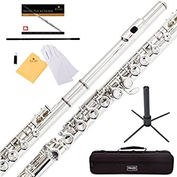 Mendini By Cecilio Flutes - Musical Instrument for Kids Nickel Plated Closed Hole C For Beginners