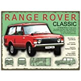 Metal Sign - Range Rover Plaque métal -...