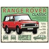 Metal Sign - Range Rover Plaque métal - Metal Sign -...
