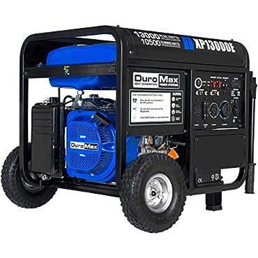 Duromax XP13000E, 13000 Watt Gasoline Fuel Electric Start, Portable Generator