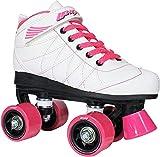 Lenexa Hoopla Roller Skates for Girls and Boys - Quad Derby Roller Skates for Girls and Boys (White,...