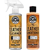 Chemical Guys SPI_208_16 Colorless and Odorless Leather Cleaner (16 oz) with SPI_401_16 Vintage Series Leather Conditioner (16 oz)