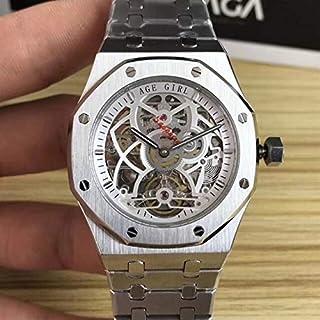DMZZYGJR Luxury Men Stainless Steel Automatic Mechanical Sapphire Watch Silver Rose Gold Tourbillion Skeleton Royal Oaks G...