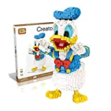 Outletdelocio.. LOZ 9038. Kit de construccion miniaturizada. Pato Donald. 1670 Piezas. 20cm de Altura
